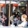 Melburnians eat out again as the city reopens.