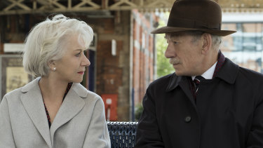 Helen Mirren plays a widow targeted by Ian McKellen's conman in The Good Liar.