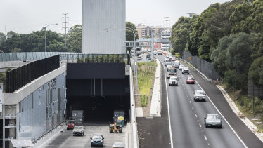 Transurban boss Scott Charlton expects traffic on his roads (which include Sydney's West Connex, pictured) to exceed pre-COVID levels in the next six months.