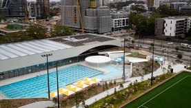 Gunyama Park pool at Green Square opened last week.