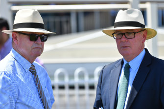 Racing Victoria's integrity boss Jamie Stier, right, pictured with chief steward Robert Cram.
