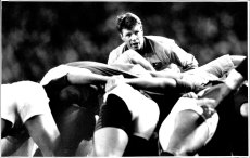 Nick Farr-Jones playing against South Africa in 1993.