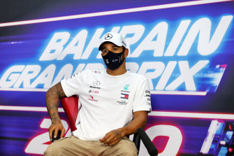 Lewis Hamilton will start on pole in Bahrain.