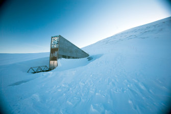The doorway to the Global Seed Vault, a kind of backup storage for the world's plants.