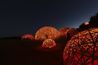 The Wilds bamboo bubbles, for RISING festival.