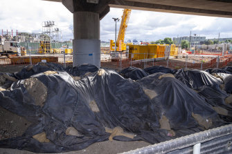 Soil from the West Gate Tunnel project.