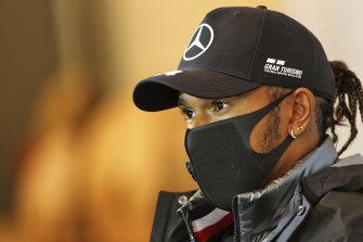F1 world champion Lewis Hamilton.