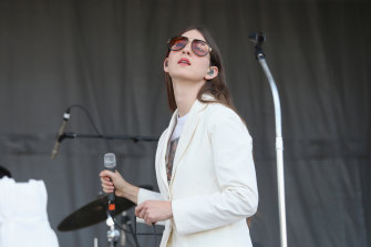 Weyes Blood performs at the 2019 ACL Fest at Zilker Park in Austin, Texas.