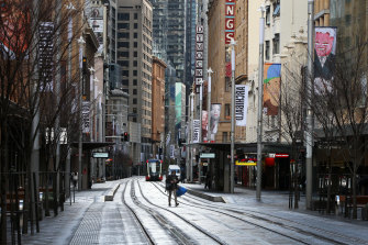 Lockdown has emptied Sydney's normally bustling streets.