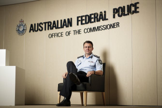 Reece Kershaw at AFP headquarters in Canberra this week.