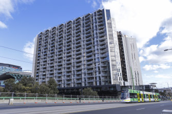 Residents of the LaCrosse Building on La Trobe Street have been told they need to isolate until further notice after a positive case spent time there.