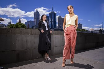 Workwear with a difference by Jac & Mooki (left) and E Nolan.