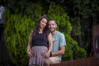 Engaged couple Tennille McNamara and Elliott Richardson have had their wedding planned since February.