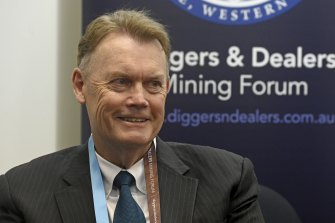 IGO Limited managing director and chief executive Peter Bradford whose company was named the dealer of the year at the annual Diggers and Dealers conference.