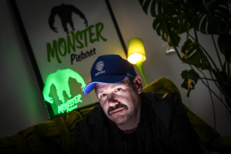 Monster Pictures owner Grant Hardie in his Brunswick office.