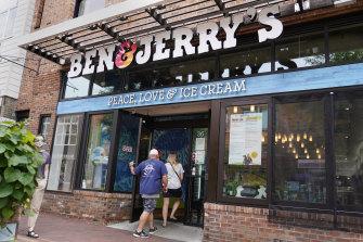 A Ben & Jerry's Ice Cream shop in Burlington, Vermont.