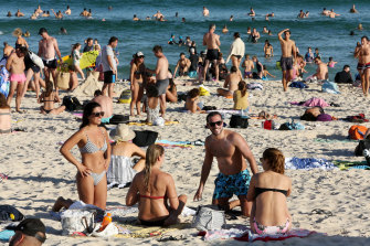 Thousands flocked to Bondi Beach on Friday, March 20.