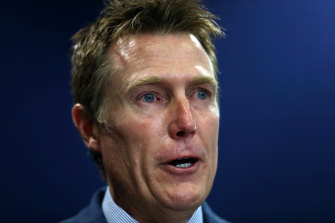 Attorney-General Christian Porter faces a press conference on the rape allegations in Perth on Wednesdy.