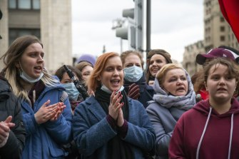 Police across Russia have detained large numbers of people in connection with demonstrations in support of jailed opposition leader Alexei Navalny in Moscow, Russia.