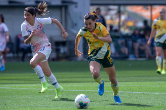 Hayley Raso says the chaos around the qualifiers hasn't dented the Matildas' hopes.
