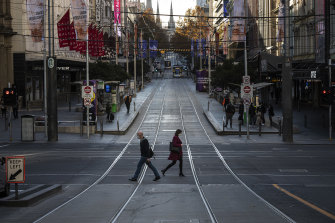 Melbourne's city streets have been largely deserted during the lockdown.