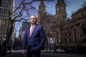 Victorian Chamber of Commerce and Industry chief executive Paul Guerra is working on a 'traffic light' system with the government to reopen the state.
