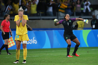 Brazil wins the penalty shootout in the quarter-final at the Rio Olympics on August 12, 2016.
