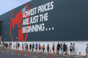 Bunnings was one retail outlet to benefit from the ban on international travel as customers spent their savings on home improvements.