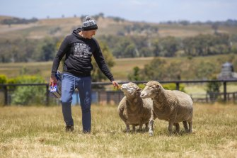 Kyle Behrend, one of the staff at Edgar's Mission in Lancefield