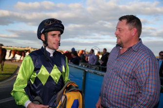 Jockey Jamie Mott, left, has previously spoken out about whip rules.