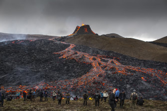 Thousands of people have travelled to the area to watch the eruption.