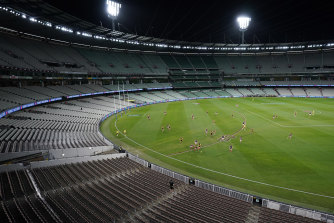 The season got under way at the MCG on Thursday night, but there were not crowds to see it.