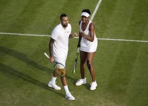 Dynamic duo: Nick Kyrgios and Venus Williams.