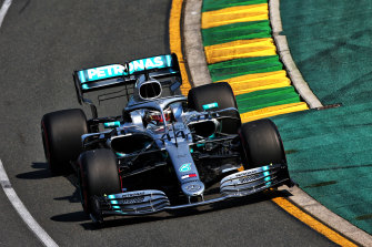 World champion Lewis Hamilton of Mercedes at last year's Australian Grand Prix.