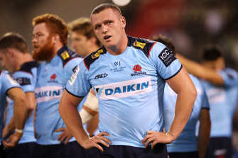 Waratahs prop Angus Bell is weighing up his future.