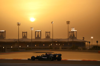 Valtteri Bottas was fastest in his Mercedes on day two of testing in Bahrain.