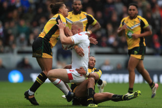 Many of Jamaica's players play in England in the Super League and lower divisions.