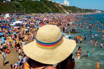 Cowds on Bournemouth beach in June 2020 became a national scandal.