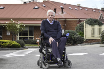 Jack Ogilvie, a resident at Japara Goonawarra in Sunbury, where 20 people died and 123 residents and staff were infected in July and August 2020.