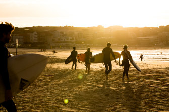 Bondi Beach reopened for local surfers this week after closing due to the coronavirus pandemic.