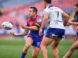 Mitchell Pearce made a successful comeback from injury on Saturday.