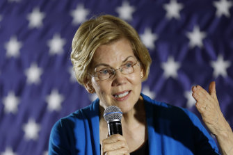 Democratic Senator Elizabeth Warren has risen in the polls in recent weeks.