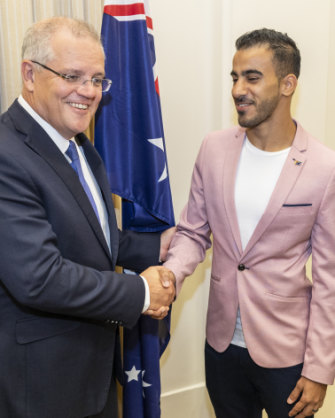 With Scott Morrison in March.