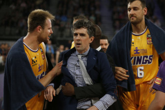 Kings head coach Will Weaver is ejected from the game.