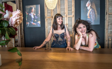 Braidwood fashion label Saloon founders Dena Pezzano-Pharaoh and Jane Magnus.