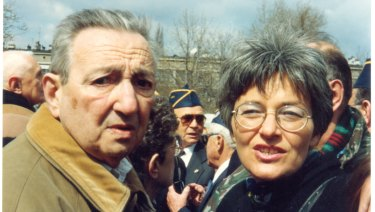 Marek Edelman (left) with Paula Sawicka in Poland in 1993.