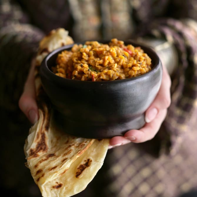 Christine Manfield's spiced lentils.