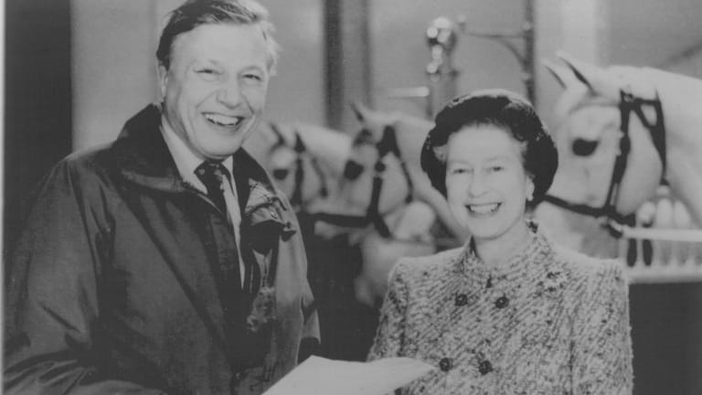 The Queen and David Attenborough - seen here in 1986 - have joined forces to make a film about conservation in the Commonwealth
