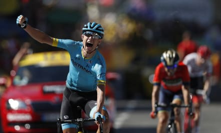Cort Nielsen claims Tour de France stage 15 as Sky rider ejected from tour