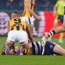 Burgoyne fined over Dangerfield tackle